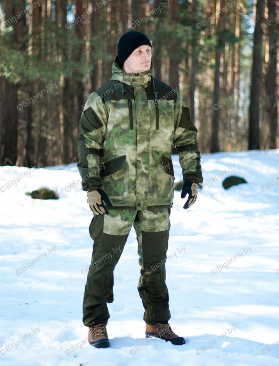 Костюм горка 5 зимняя (2_слоя утеплителя+флис) Рип-стоп Атака