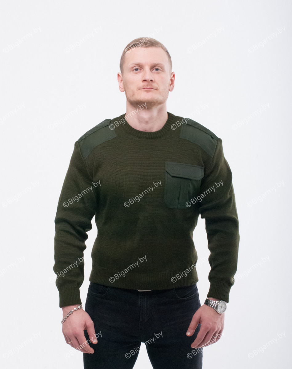 Свитер уставной РБ оливковый круглый ворот