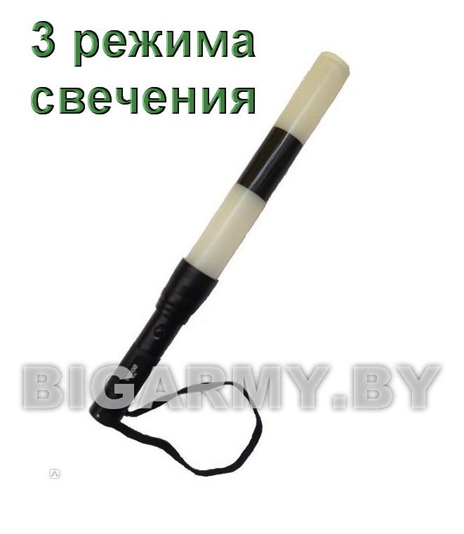 Жезл ДПС 40 см стробоскоп светодиодный с металлической ручкой