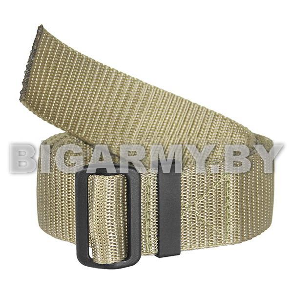 Ремень брючный тесьма (ширина 40 мм) с пластиковой пряжкой бежевый