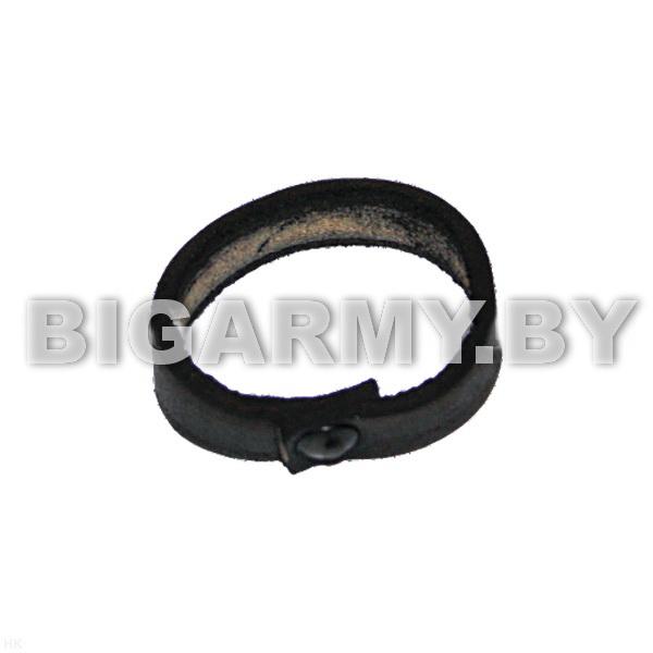 Шлевка (колечко) для ремня кожаная черная