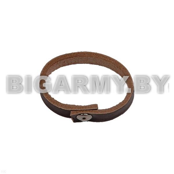 Шлевка (колечко) для ремня кожаная коричневая