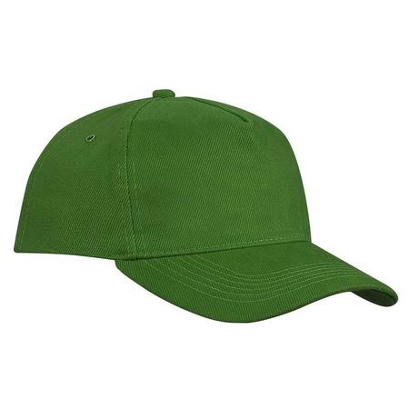 Бейсболка зеленая плотная застежка металл