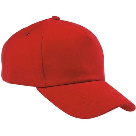 Бейсболка красная плотная застежка металл