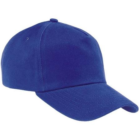 Бейсболка светло-синяя плотная застежка металл