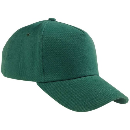 Бейсболка темно-зеленая плотная застежка металл
