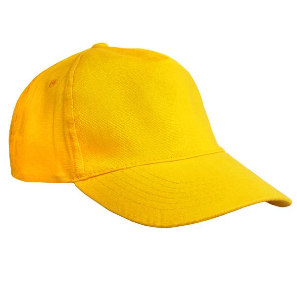 Бейсболка желтая плотная застежка металл