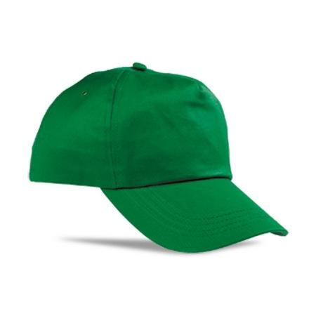 Бейсболка зеленая тонкая застежка металл