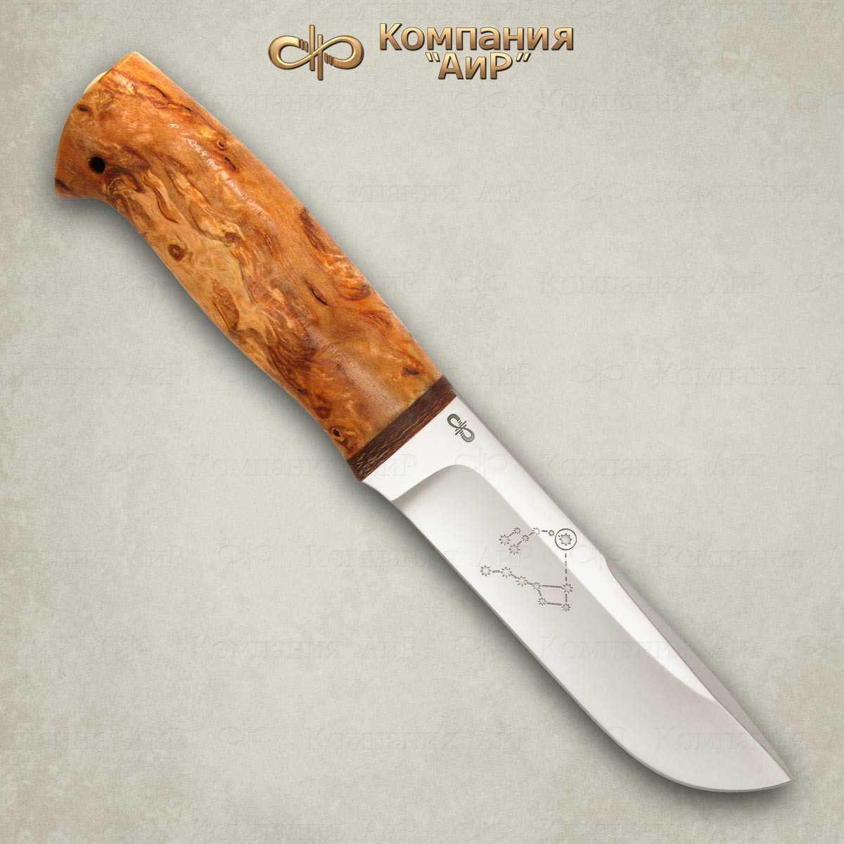 Нож Полярный-2 (карельская береза)