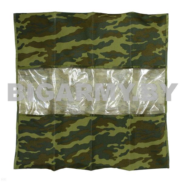 Укладка полотно с кармашками для хранения кмф зеленая карманы непрозрачные