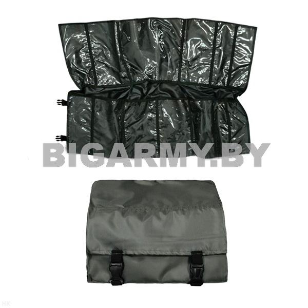 Укладка полотно с кармашками для хранения с защелками оливковая