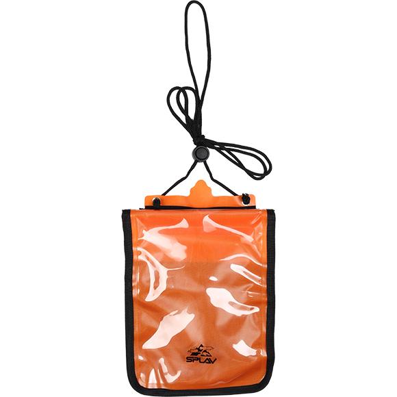 Кошелек влагозащитный нагрудный XL 17х21 оранжевый