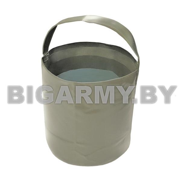 Ведро складное мягкое ПВХ ламинир. оливковое (объем номин. 10 л)