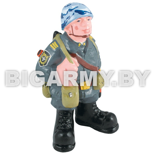Фигурка гипсовая Милиционер в каске и со снаряжением