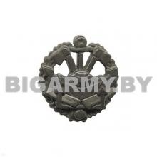 Эмблема Инженерные войска защитная пластмассовая с венком