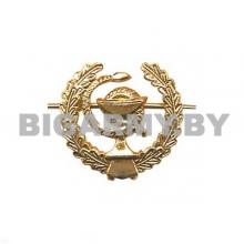 Эмблема петлица металлическая Медицинская служба ст/обр золотая правая