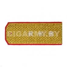 Погоны парадные золотые (металлиз.) с красн. кантом, вышит. канителью (ст. прапорщик)