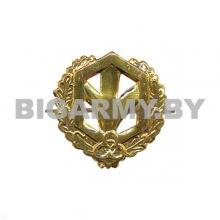 Эмблема петлица металлическая Войска РХБЗ ст/обр золото