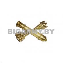 Эмблема петлица пластиковая Войска ПВО нового образца золото