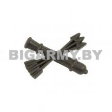Эмблема петлица пластиковая Войска ПВО нового образца защитная