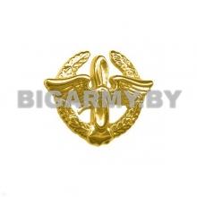 Эмблема петлица пластмассовая ВВС старого образца золотая