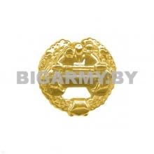 Эмблема петлица Танковые войска пластмассовая золотая