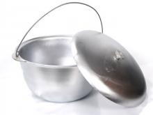 Казан котелок литой 6 литров походный с крышкой