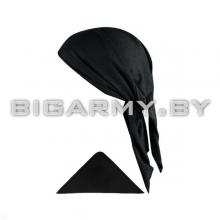 Бандана черная треугольная