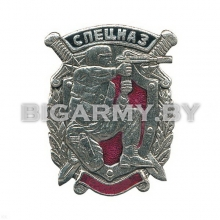 Знак Спецназовец с автоматом