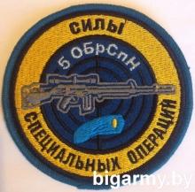 Шеврон Снайпер 5 ОБрСпН ССО