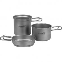 Набор титановой посуды 2 кастрюли, 1 сковородка