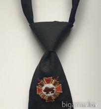 Галстук ВВ МВД черный регат