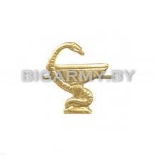 Эмблема петлица Медицинская служба металлическая правая