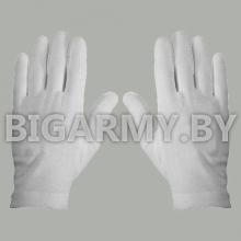 Перчатки без лучей х/б белые парадные