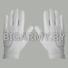 Перчатки с лучами х/б белые парадные