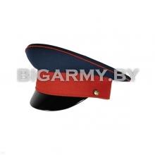 Фуражка простая ВВ МВД (переходная) синяя с красным кантом