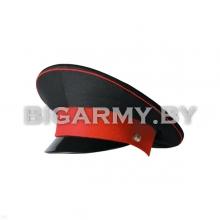 Фуражка простая КК черная с красным околышем и красным кантом