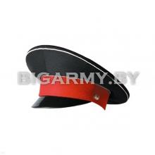 Фуражка простая СВУ черная с белым кантом и красным околышем