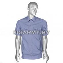 Рубашка МВД форменная офицерская серо-голубая