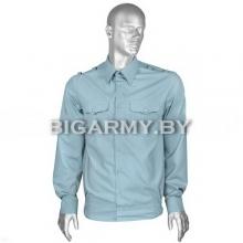 Рубашка МЧС форменная офицерская голубая