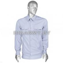 Рубашка форменная офицерская бледно-голубая Милиция