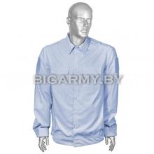 Рубашка Милиция бледно-голубая c липучками для шевронов