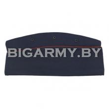 Пилотка офицерская синяя с красным кантом