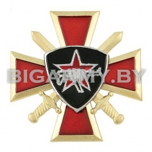 Знак Кулак с автоматом ВВ крест и мечи