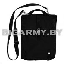 Сумка полевая офицерская черная ткань