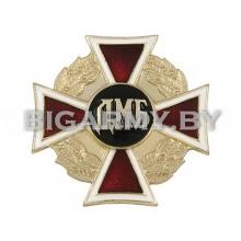 Знак ДМБ красный крест в венке