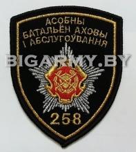 Шеврон 258 особый батальон охраны и обслуживание