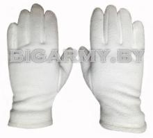 Перчатки белые флис