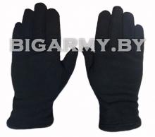 Перчатки черные флис