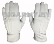 Перчатки утепленные белые с лучами
